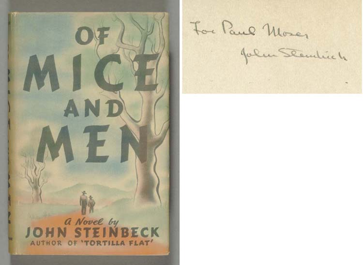 STEINBECK, John.  Of Mice and