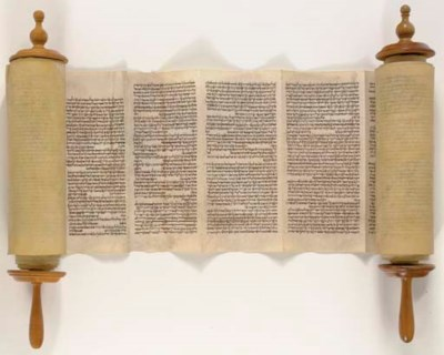 TORAH SCROLL, for use in the s