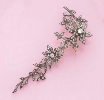 BROCHE TREMBLEUSE DIAMANTS