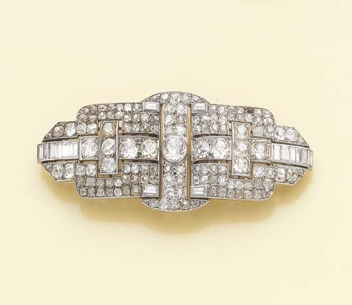 BROCHE DOUBLE CLIP DIAMANTS, P