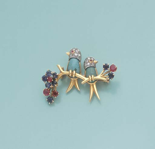 BROCHE INSEPARABLES TURQUOISE,