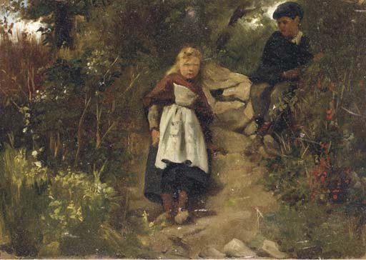ATTRIBUE A EDVARD FREDERIK PETERSEN (1841 - 1911)