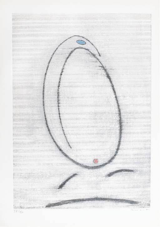 """[ERNST] -- LEBEL, Robert. L'Oiseau Caramel. Lithographies de Max Ernst. Paris: Georges Girard pour """"Le Soleil Noir"""", 1er novembre 1969."""