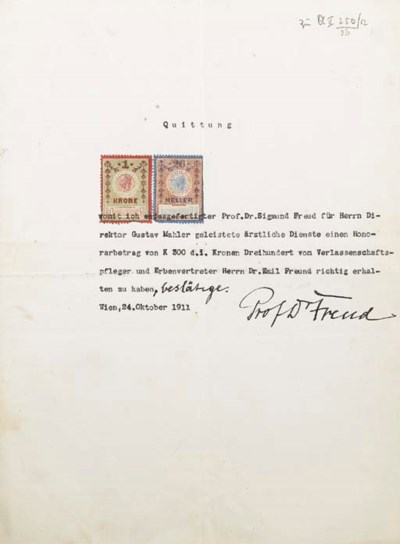 FREUD, Sigmund (1856-1939). Re