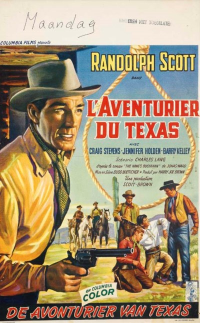 L'AVENTURIER DU TEXAS, 1958