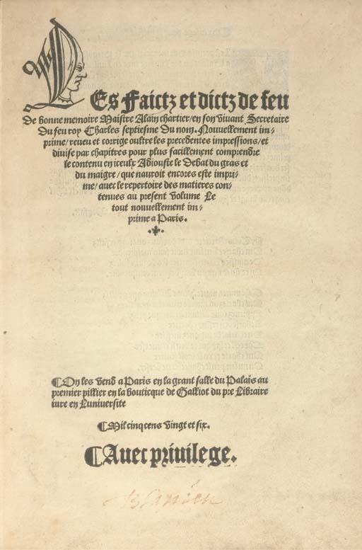 CHARTIER, Alain (?1385-?1435).