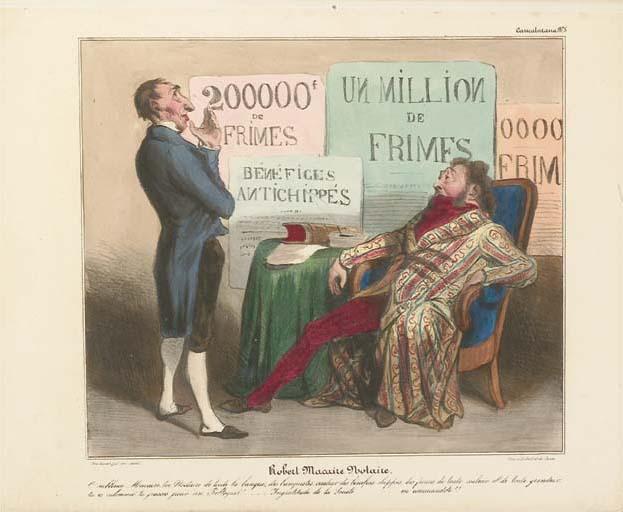 DAUMIER, Honoré (1808-1879) & Charles PHILIPON (1806-1862). Les Robert Macaire (Caricaturiana). Paris: Aubert [1836-1838].