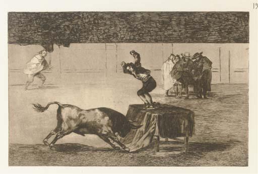 GOYA Y LUCIENTES, Francisco José de (1746-1828). La Taureomachie. Recueil de quarante estampes inventées et gravées à l'eau-forte par Don Francisco Goya Y Lucientes. Paris: Loizelet, [1876].