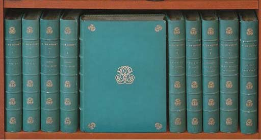 MUSSET, Alfred de (1810-1857). Oeuvres complètes... Edition dédiée aux amis du poète ornée de 28 dessins de M. Bida. Paris: Claye pour Charpentier, 1865-1866.
