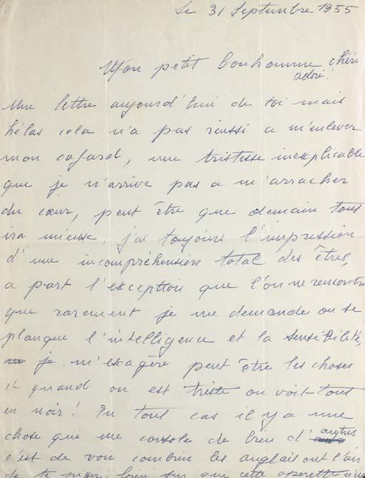 PIAF, Edith (1915-1963). Lettr