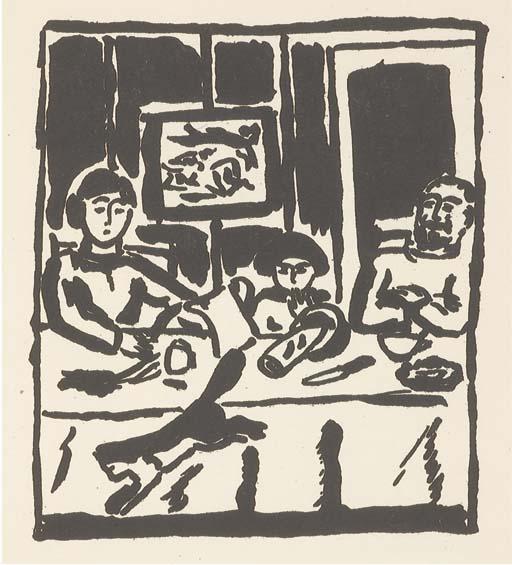 [BALTHUS] -- RILKE, Rainer Maria (1875-1926). Mitsou. Quarante images par Balthus. Préface de Rainer Maria Rilke. Erlenbach, Zürich et Leipzig: Rotapfel-Verlag, 1921.