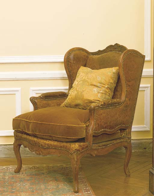 bergere a oreilles d 39 epoque louis xv christie 39 s. Black Bedroom Furniture Sets. Home Design Ideas