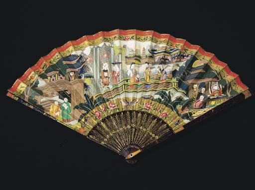 A CHINESE EXPORT FAN