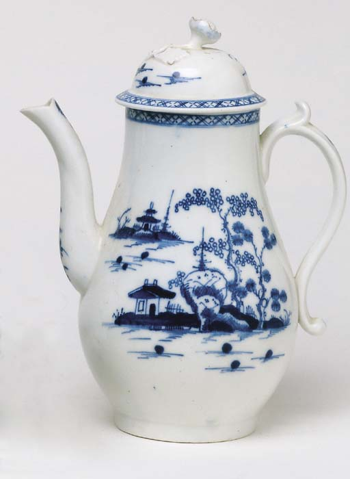 A WORCESTER BLUE AND WHITE COF