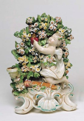 A DERBY BOCAGE FIGURE OF CUPID