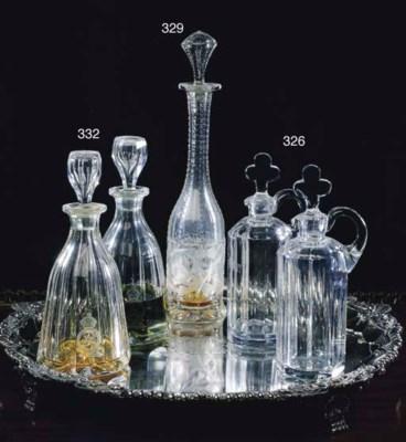A PAIR OF VICTORIAN CUT GLASS