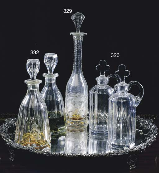 A VICTORIAN CUT GLASS DECANTER