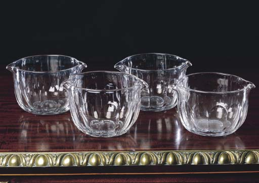 A SET OF FOUR REGENCY GLASS WI
