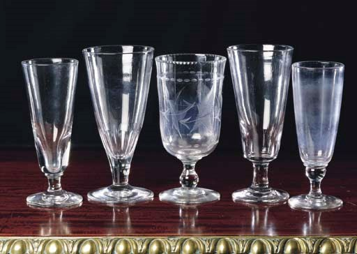 FOUR LARGE VICTORIAN GLASSES