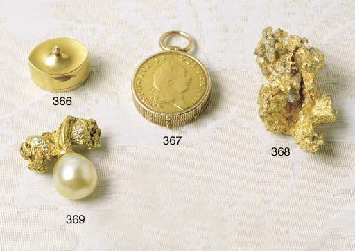 A GOLD NUGGET, DIAMOND AND SOU
