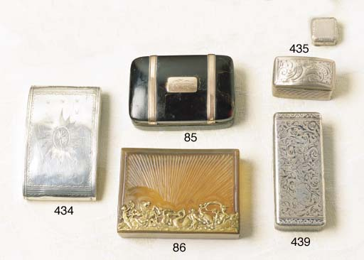 A FRENCH RECTANGULAR SILVER AN