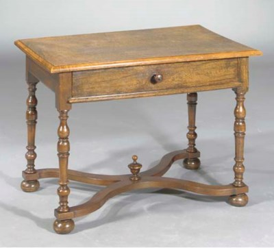 A FRENCH PROVINCIAL WALNUT TAB