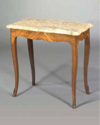 A LOUIS XV TULIPWOOD SIDE TABL