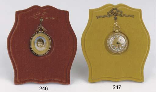 An oval portrait miniature