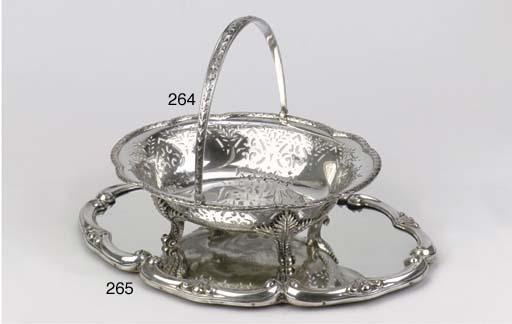 A silver table mirror