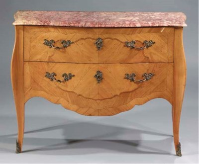 A French cherrywood commode