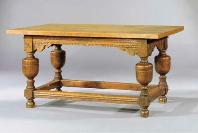 A DUTCH OAK CENTRE TABLE