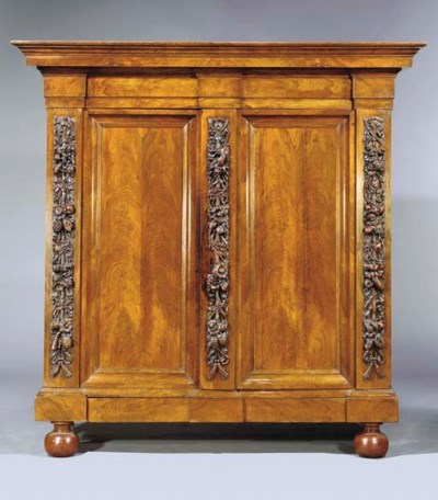 A DUTCH WALNUT CUPBOARD 'RANKE