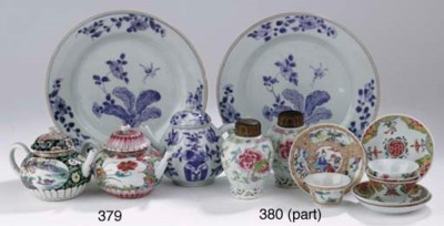 A Chinese famille rose dish an