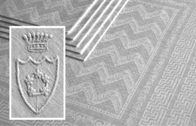 Ten damask linen napkins