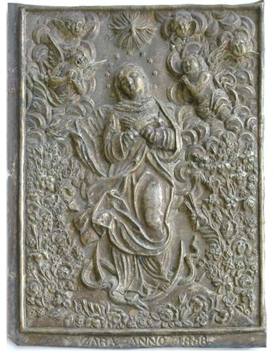 A relief plaque depicting the
