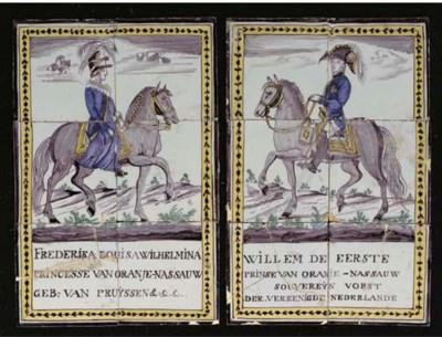 A pair of Dutch polychrome rec
