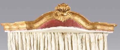 AN AUSTRIAN GILTWOOD BED CANOP