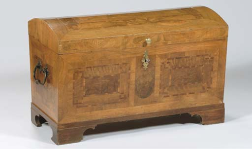 A GERMAN WALNUT AND FRUITWOOD