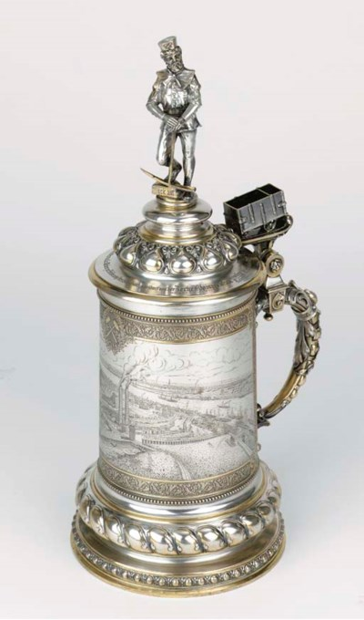 A large German silver and silv