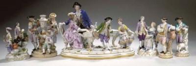 Four various Meissen porcelain