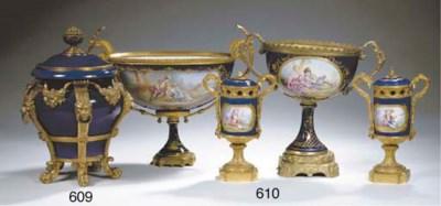 A Sèvres-style porcelain gilt