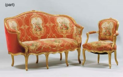 A NORTH EUROPEAN SUITE OF GILT