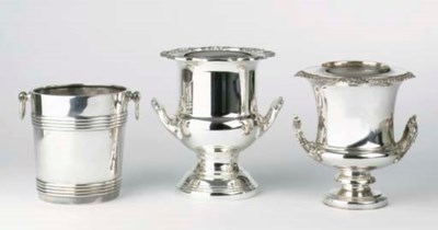 Three various silver-plated wi