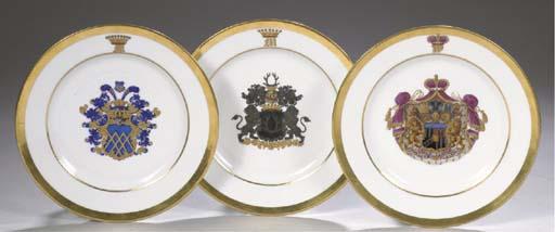 A set of three Thuringian porc