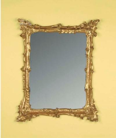 An Italian giltwood frame