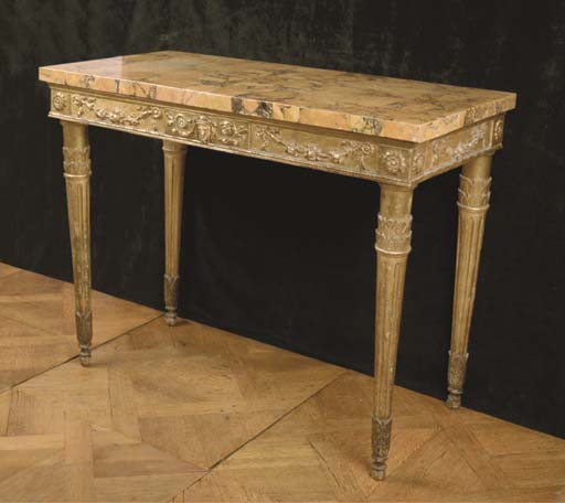 A NORTH-ITALIAN GILTWOOD CONSO