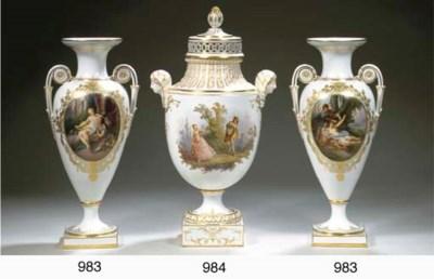 A Meissen porcelain urn-shaped