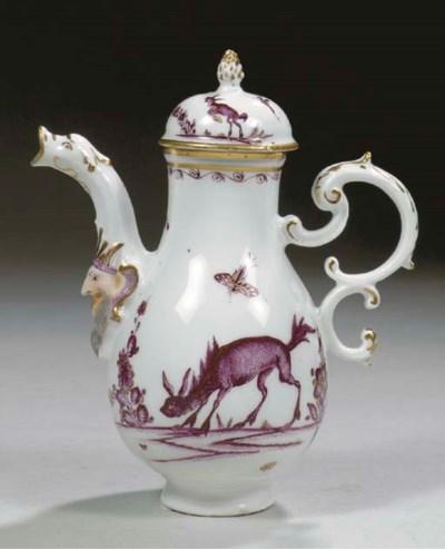 A small Meissen porcelain Purp