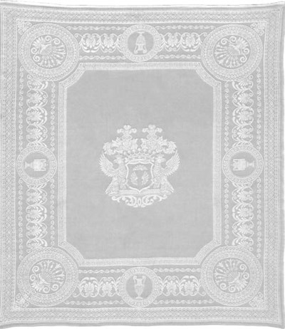 Two damask linen napkins