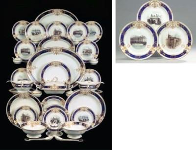 A Berlin KPM porcelain gilt pa